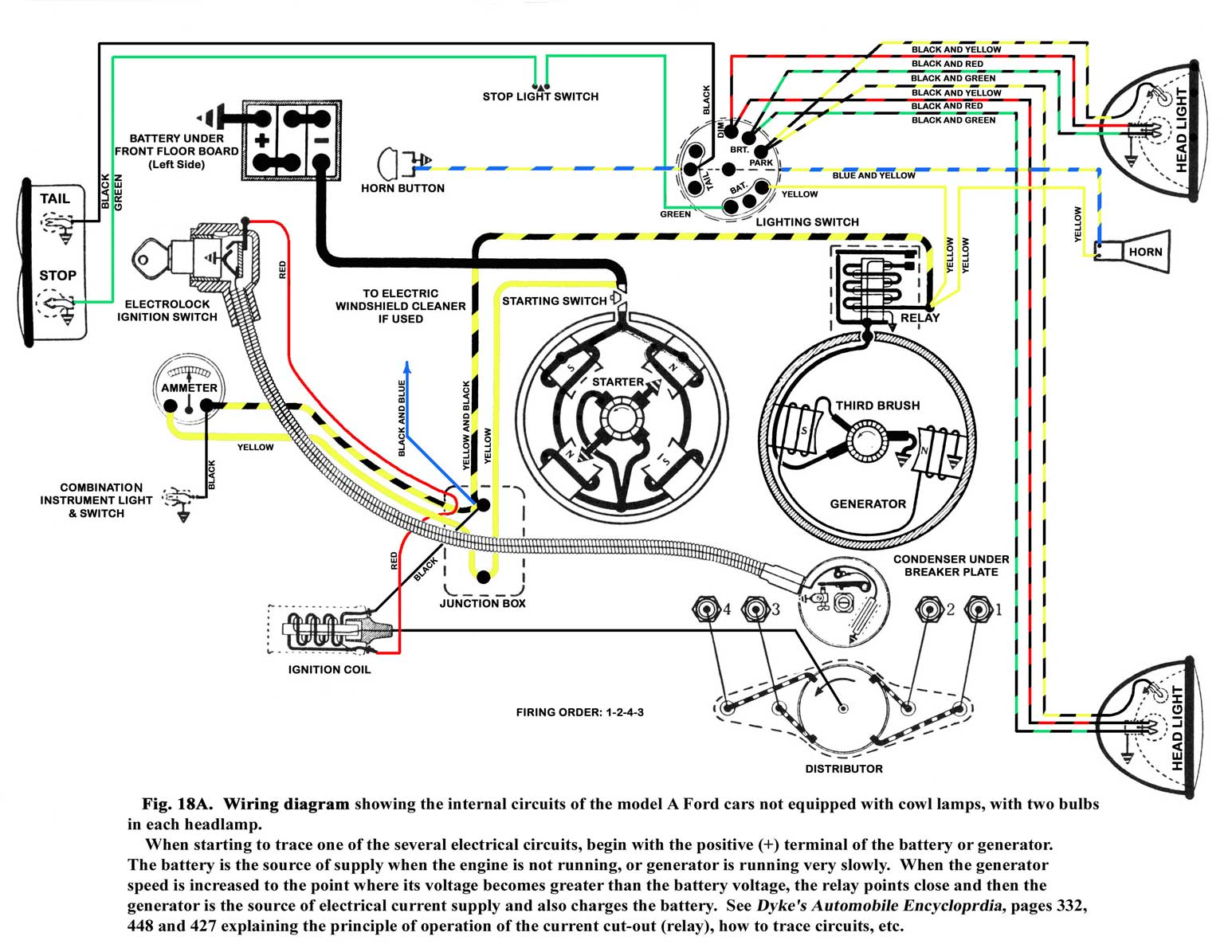 Ford F1 12 Volt Generator Wiring Diagram Third Level 8n Way Switch On For Starter