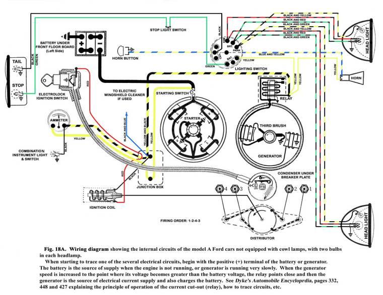 Model A Wiring Diagram  U2013 Capitol A U0026 39 S